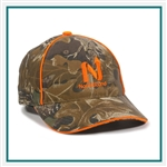 Outdoor Cap 6-Panel Camo With Blaze Accent 455PC, Outdoor Cap 455PC, Outdoor Cap Promotional Headwear, Outdoor Cap Buy Online