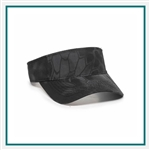 Outdoor Cap Garment Washed Camo Visor Custom