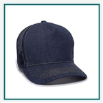Outdoor Cap 5-Panel Denim Front with Mesh Back DN105, Outdoor Cap DN105 Outdoor Cap Promotional Headwear, Outdoor Cap Buy Online