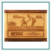 Origins Red Alder & Walnut Engraved Plaque Medium with Custom Logo, Origins Branded Golf Awards