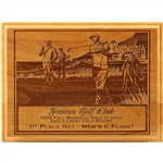 Origins Red Adler Golf Wood Plaque Medium LDAP014 - Laser Engraving, Origins of Golf Wood, Origins Golf Awards