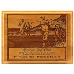 Origins Red Adler Golf Wood Plaque Small with Custom Laser Engraving, Origins Branded Golf Awards