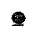 Origins Small Custom Acrylic Golf Acclaim Award Trophy with Custom Logo, Origins Branded Golf Awards