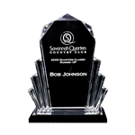 Origins Medium Custom Acrylic Golf Deco Award Trophy with Custom Logo, Origins Branded Golf Awards