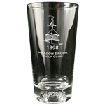 Origins Golf Ball Pint Glass 16 oz. with Laser Engraved Logo, Origins Co-Branded Golf Awards