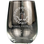 Origins Stemless Wine Glass 17 oz. LKGW009 - Laser Engraving, Origins of Golf Ceramic, Origins Golf Awards