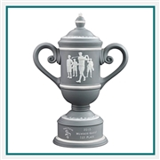 Origins Custom Men's Golf Cup Small Ceramic Trophy with Engraved Logo, Origins Co-Branded Golf Awards