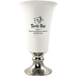 Origins Custom Men's Golf Trumpet Medium Ceramic Trophy with Engraved Logo, Origins Branded Golf Awards