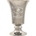 Origins Custom Men's Golf Trumpet Large Ceramic Trophy with Engraved Logo, Origins Branded Golf Awards
