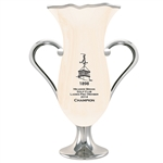 Origins Custom Ladies' Golf Viola Series Cup Medium Ceramic Trophy with Engraved Logo, Origins Branded Golf Awards