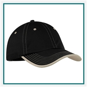 Port Authority Vintage Washed Contrast Stitch Cap with Custom Embroidery, Port Authority Custom Golf Caps, Port Authority Custom Logo Gear