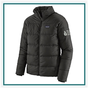 Patagonia M Silent Down Jacket Custom Embroidered