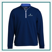 Pebble Beach Men's 1/4 Zip Contrast Zipper Pullover Custom Embroidery