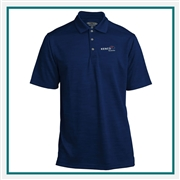 Pebble Beach Men's Spacedyed Check Polo Custom Logo