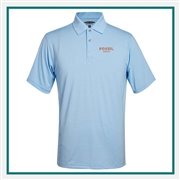 Pebble Beach M Fineline Stripe Jersey Polo Embroidered