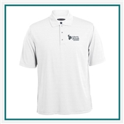 Pebble Beach Men's Tonal Stripe Polo Custom Embroidery