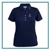 Pebble Beach Women's Grid Texture Polo with Custom Embroidery, Pebble Beach Custom Polos, Pebble Beach Custom Logo Gear