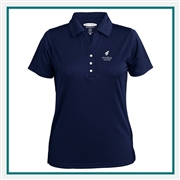 Pebble Beach W Grid Texture Polo Custom Embroidered