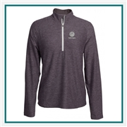 Pebble Beach W Marled Jersey 1/4 Zip Tech Pullover Custom Embroidery