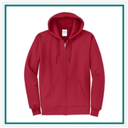 Port & Company Classic Full-Zip Hooded Sweatshirt PC78ZH with Pocket PC78ZH with Silkscreen Logo, Custom Logo Port & Company Sweatshirts, Port & Company PC78H Sweatshirt Best Price