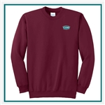 Port & Company Ultimate Crewneck Sweatshirt PC90 with Custom Embroidery, Custom Embroidered Port & Company Sweatshirts, Port & Company PC90 Sweatshirt Best Price