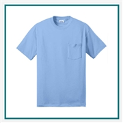 Port & Company - 50/50 Cotton/Poly T-Shirt with Pocket PC55P with Silkscreen Logo, Custom Logo Port & Company T-Shirts, Port & Company pc55P T-Shirt Best Price