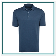 Callaway Men's Heathered Jacquard Polo with Custom Embroidery, Callaway Branded Golf Polos