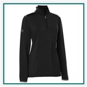 Callaway Ladies Mid-Layer Fleece Pullover CGW509 with Custom Embroidery, Callaway Custom Embroidered Golf Pullovers, Callaway Custom Pullovers, Embroidered Callaway Pullovers