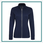 Callaway Ladies Waffle Fleece Jacket CGW510 with Custom Embroidery, Callaway Custom Embroidered Golf Jackets, Callaway Custom Jackets, Embroidered Callaway Jackets