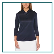 Callaway Ladies 3/4 Sleeve Core Performance Polo CGW703 with Custom Embroidery, Callaway Custom Embroidered Golf Polos, Callaway Custom Polos, Embroidered Callaway Polos