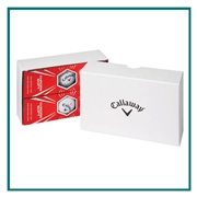 Callaway 6-Ball Box with Custom Logo, Callaway Golf Ball Box Balls, Callaway 642145-B6B Custom Logo, Callaway Corporate Golf Ball Box Balls