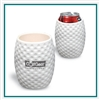Golf Ball Textured Can Cooler, Golf Can Koozie, Golf Themed Can Cooler PL-0803