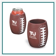 Football Textured Can Cooler, Football Can Koozie, Football Themed Can Cooler PL-0808