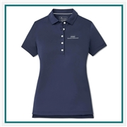 Peter Millar Ladies Short-Sleeve Button Polo Co-Branded