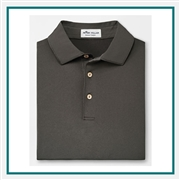 Peter Men's Millar Solid Stretch Jersey Sean Collar Polo Corporate Logo