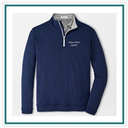 Peter Millar M Perth Stretch Loop Terry 1/4 Zip Corporate Logo