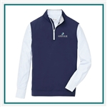 Peter Millar Men's Galway Stretch Loop Terry 1/4 Zip Vest Custom Logo