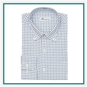 Peter Millar Men's Captain Performance Tattersall Sport Shirt Embroidered