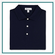 Peter Millar Crown Ease Solid Cotton Lisle Polo Custom Logo