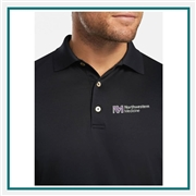 Peter Millar Crown Ease Solid Long Sleeve Lisle Polo Custom Embroidered