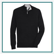 Peter Millar Crown Comfort Cashmere/Silk Quarter-Zip Corporate Logo