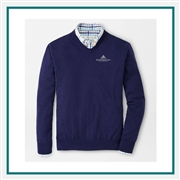 Peter Millar M Crown Soft V-Neck Sweater Custom Branded