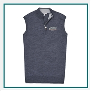 Peter Millar Crown Soft Quarter Zip Vest Custom Logo