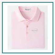 Peter MillaR Jubilee Stripe Performance Polo Custom Logo