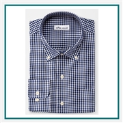 Peter Millar M Crown Soft Gingham Sport Shirt Custom Embroidered