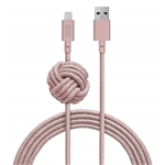 Native Union 10ft Night Cable Apple Lightning Rose Branded Logo