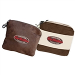 Microsuede Valuables Bag, Clubhouse valuables bag, Custom embroidered shoe bags, Clubhouse shoe bag, custom logo shoe bags