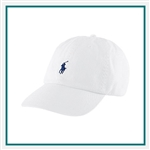 Ralph Lauren Chino Baseball Hat POLOK135 with Custom Embroidery, Ralph Lauren Custom Hats, Ralph Lauren Custom Logo Gear
