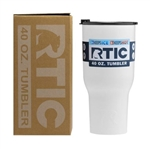 40 oz. RTIC Tumbler With Custom Printed Logo, Promotional RTIC Tumblers,  RTIC Corporate Sales