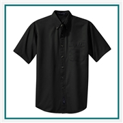 Port Authority Men's Short Sleeve Twill Shirt S500T with Custom Embroidery, Custom Logo Port Authority Shirts, Embroidered Port Authority Shirts, Embroidered Port Authority, Port Authority Embroidery